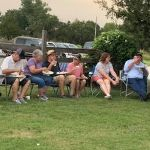people at church picnic
